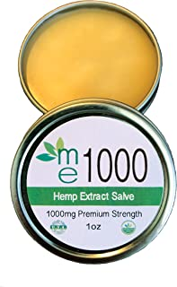 Pain Relief Hemp Extract Salve - Max Strength 1000mg - 100% All Natural Ointment - Hemp Extract for All Your ailments Plus Joint & Back - Made in USA - Hemp Balm