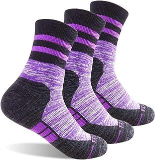 Storm bloc/- 3/paia di calze da donna in cotone leggero e traspirante non crea vesciche da trekking con suola imbottita estivi