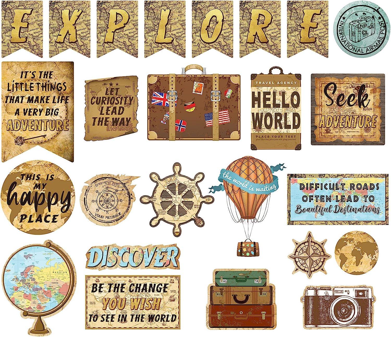 25 Same day shipping Pieces Travel Popular Map Bulletin Board Mini Decoration Cutou