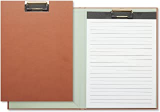 C.R. Gibson Brown Padfolio Clipboard with Lined Notepad, 9'' W x 12.5'' H