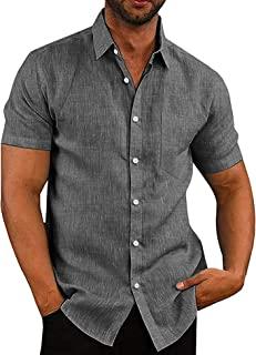 COOFANDY Men's Casual Button Down Shirt Business Chambray Dress Shirt