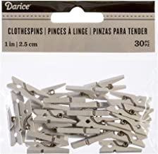 "Darice 30029521 Tiny Clothespins, 1"", White, 30 Piece"