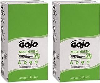 GOJO Multi Green Hand Cleaner Gel, Citrus Scent, 5000 mL Multi-Purpose Hand Cleaner Refill for GOJO PRO TDX Dispenser (Pack of 2) - 7565-02