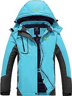 Wantdo Women's Mountain Waterproof Ski Jacket Windproof Rain Jacket