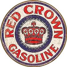 Desperate Enterprises Red Crown Gasoline Tin Sign, 11.75