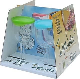 LipLidz ~ 13 oz Wine Glass w/Attachable Drink-thru Lid (4 Pack). Great for Boating, RVing, Lake, Beach, Gifts, Wedding, Can Logo, dishwasher safe, 100% Tritan Plastic/BPA Free - FUN. Made in USA!