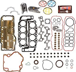 Evergreen Engine Rering Kit FSBRR8-30401EVE000 Fits 04-07 Dodge Durango Dakota Jeep Mitsubishi 4.7 SOHC Full Gasket Set, Standard Size Main Rod Bearings, Standard Size Piston Rings