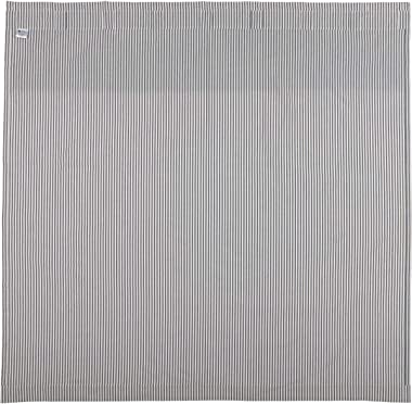 Farmhouse Ticking Stripe Shower Curtain, 72x72, Blue