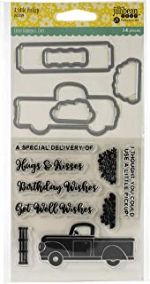 Hampton Art JBSTAMP-2359 Jillibean Soup Shaker Clear Stamps & Die Set-A Little Pickup, A