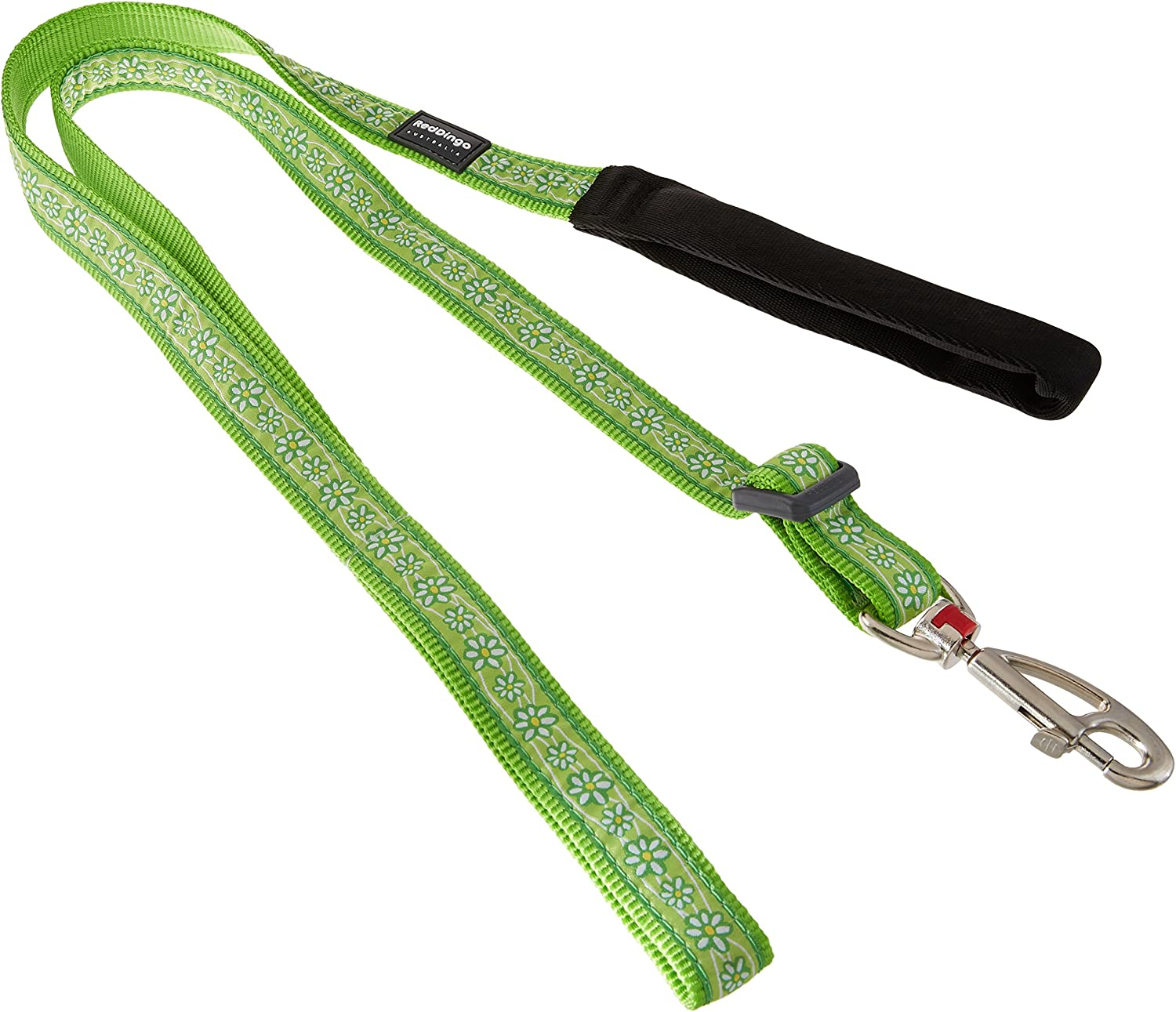 Red Dingo Daisy Chain Dog Lead, Large, Lime Green