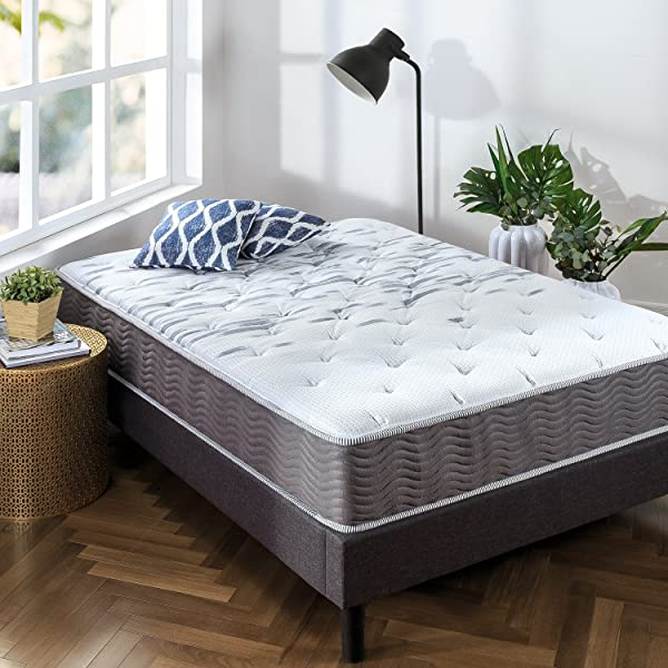 Zinus Extra Firm ICoil 10 Inch Support Plus Mattress Queen