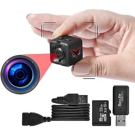 portatile con unit/à flash USB//tasto ON//ON registrazione rapida per esterni di casa//ufficio Ehomful Mini fotocamera da corpo HD 1080P con clip