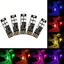 Multi Color Changing USB Lights Lamp 7 Colors Night Light 5050 RGB 4-LEDs Switch Control, USB LED TV Backlight Kit,Table Lamp,Desk Decor Lighting,Party Mood Lights,Laptop Keyboard Light