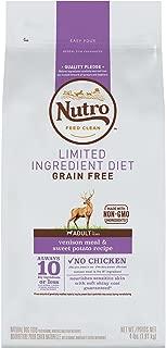 NUTRO Limited Ingredient Diet Natural Adult Dry Dog Food Venison Meal & Sweet Potato, 4 lb. Bag