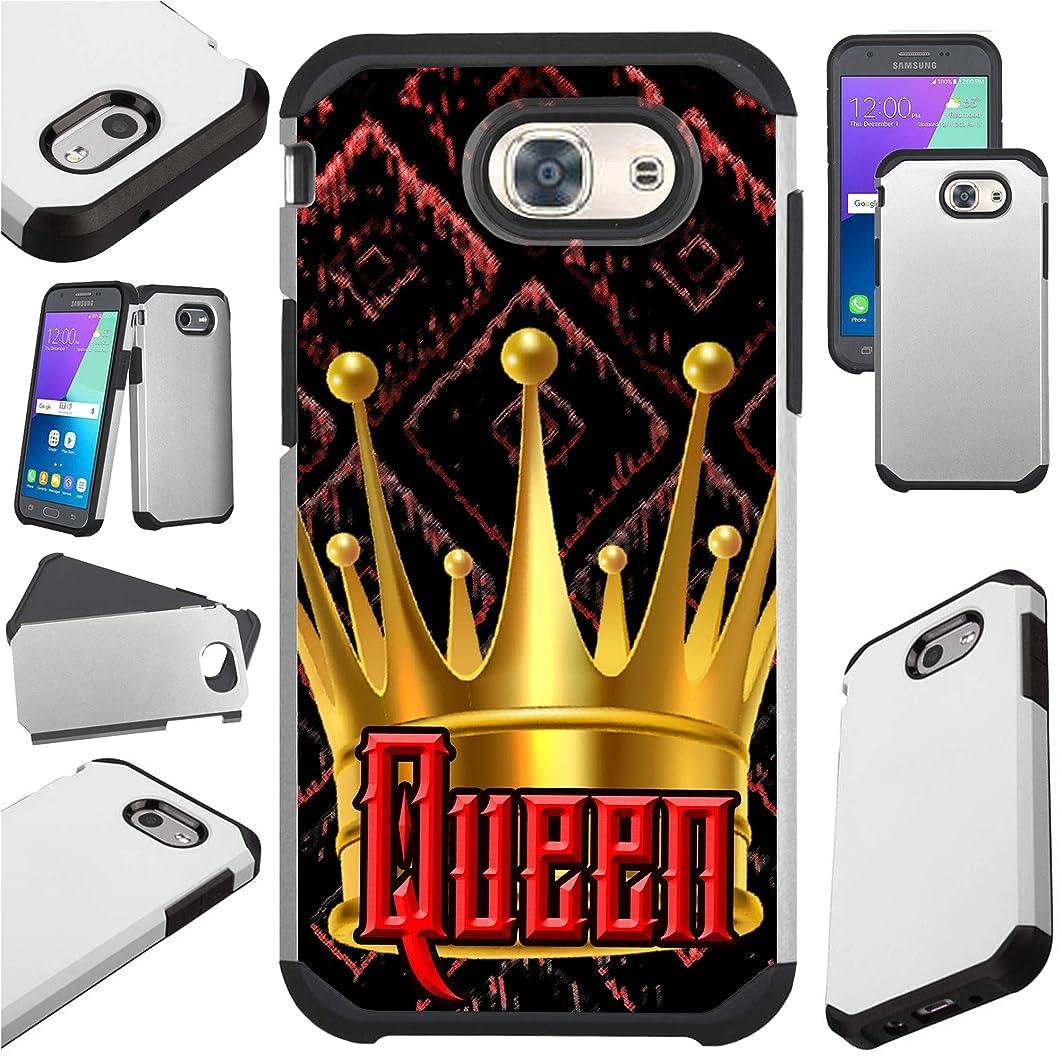 for Samsung Galaxy J7 V J727 (2017) | J7 Sky Pro | J7 Perx | J7 Prime | Halo Case Hybrid TPU Fusion Phone Cover (Dark Queen)