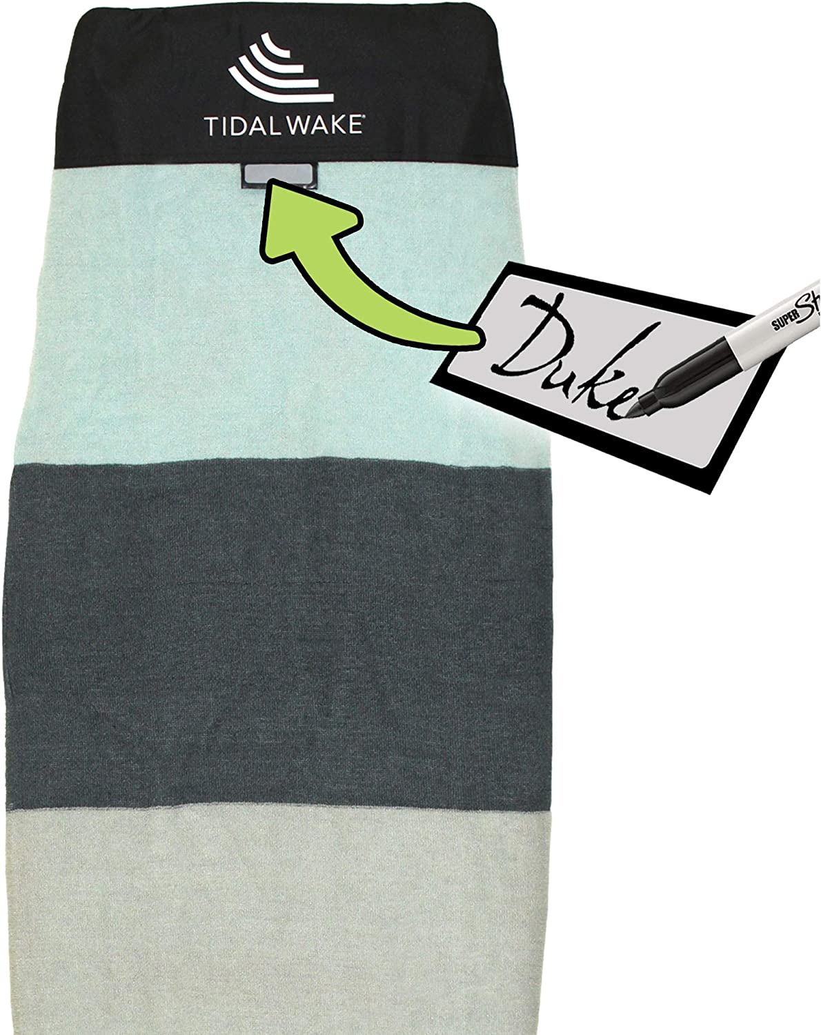 Tidal Wake TAG-IT Snub Nose Surf Sock with Directly managed store Buil Board Bag Max 57% OFF