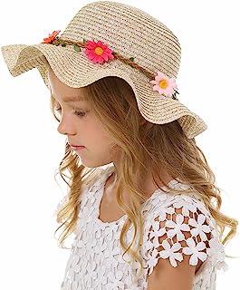 Bienvenu Kids Multi-Colors Large Brim Flower Beach Sun Hats
