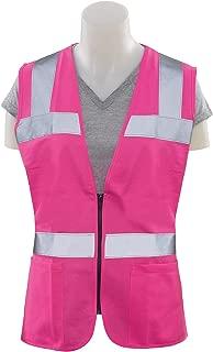 S721 Non ANSI Ladies Fitted Tricot Hi Viz Pink LG