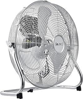 [in.tec] Ventilador de Suelo 42x43,5x18cm Máquina de Viento Ventilador de Piso Alta Velocidad de Aire Color Plata