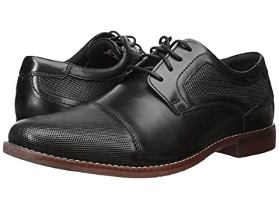 Rockport Style Purpose Perf Cap Toe (Black Leather) Men