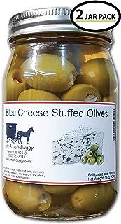 Stuffed Large Olives - Two 16 oz. Jars (Bleu Cheese Stuffed Olives)