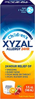 Xyzal Children's Oral Solution, 24-Hour Allergy Relief for Kids, 5 Fl. Ounces