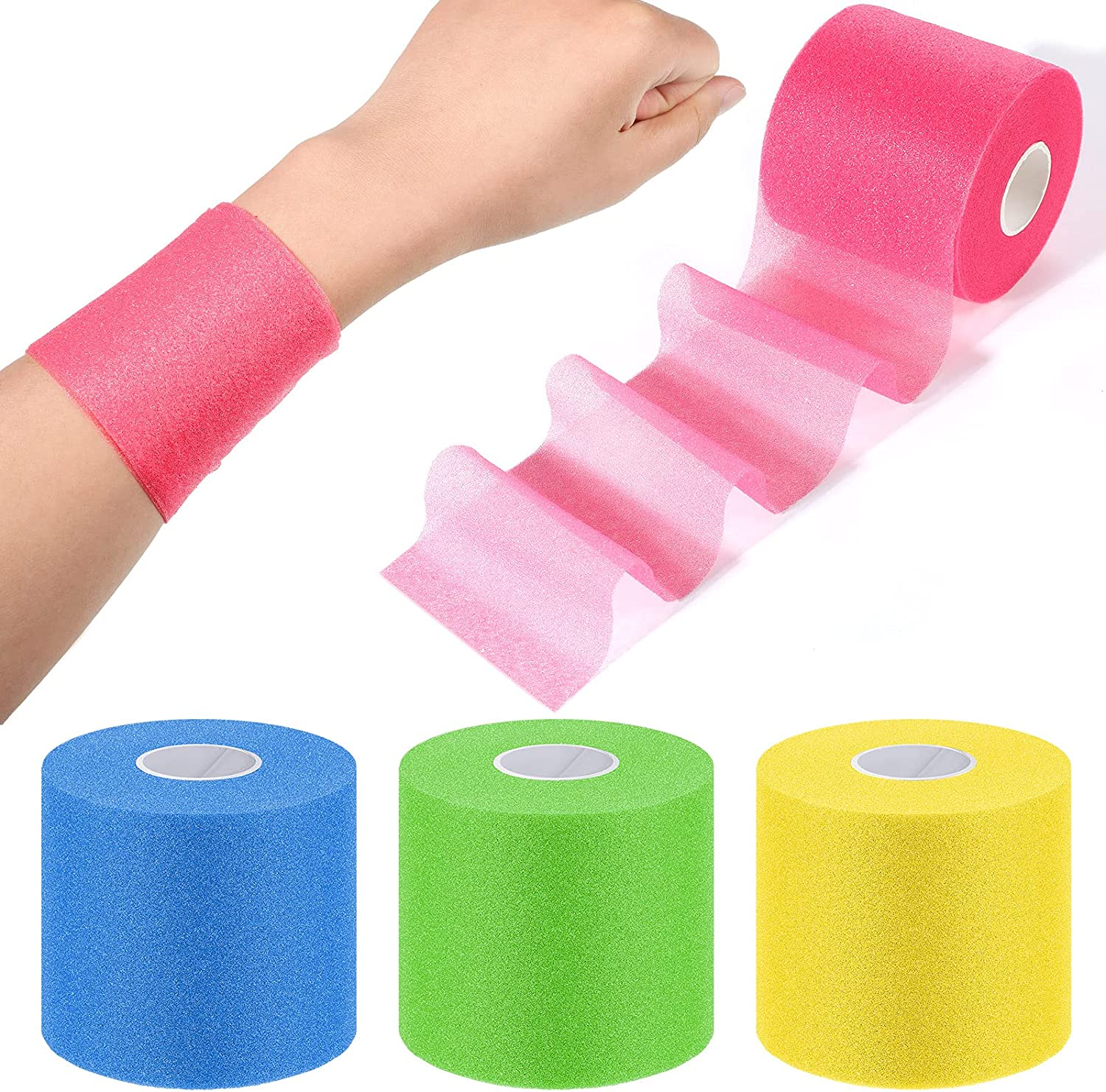 Max 73% OFF 4 Pieces Raleigh Mall Foam Underwrap Athletic Tap Pre-wrap Athlet Sports