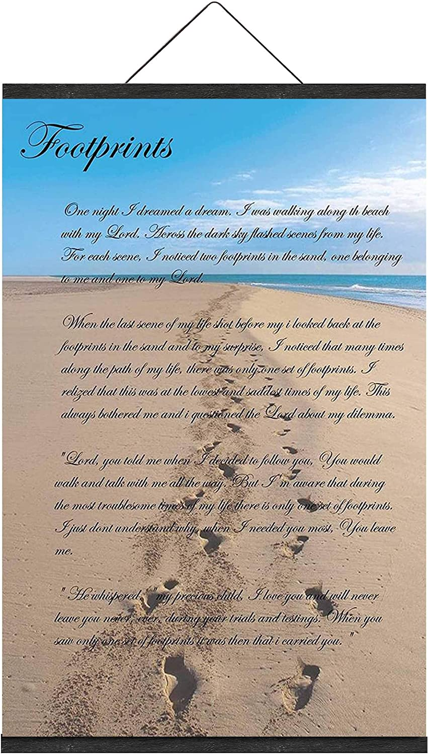 It Was Then That I レビューを書けば送料当店負担 Carried You 人気海外一番 Footprints the Sand in Inspiratio
