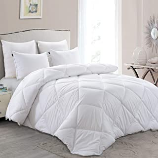 Basic Beyond Lightweight Down Comforter (King) - White Down Duvet Inserts with Corner Tabs, 600+ Fill Power, Ultra Soft Shell Down Proof