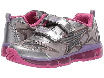 Geox Kids Jr Android 24 (Big Kid) (Silver/Fuchsia) Girls Shoes