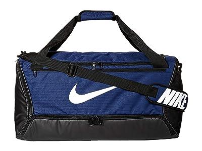 Nike Brasilia Medium Duffel 9.0 (Midnight Navy/Black/White) Bags