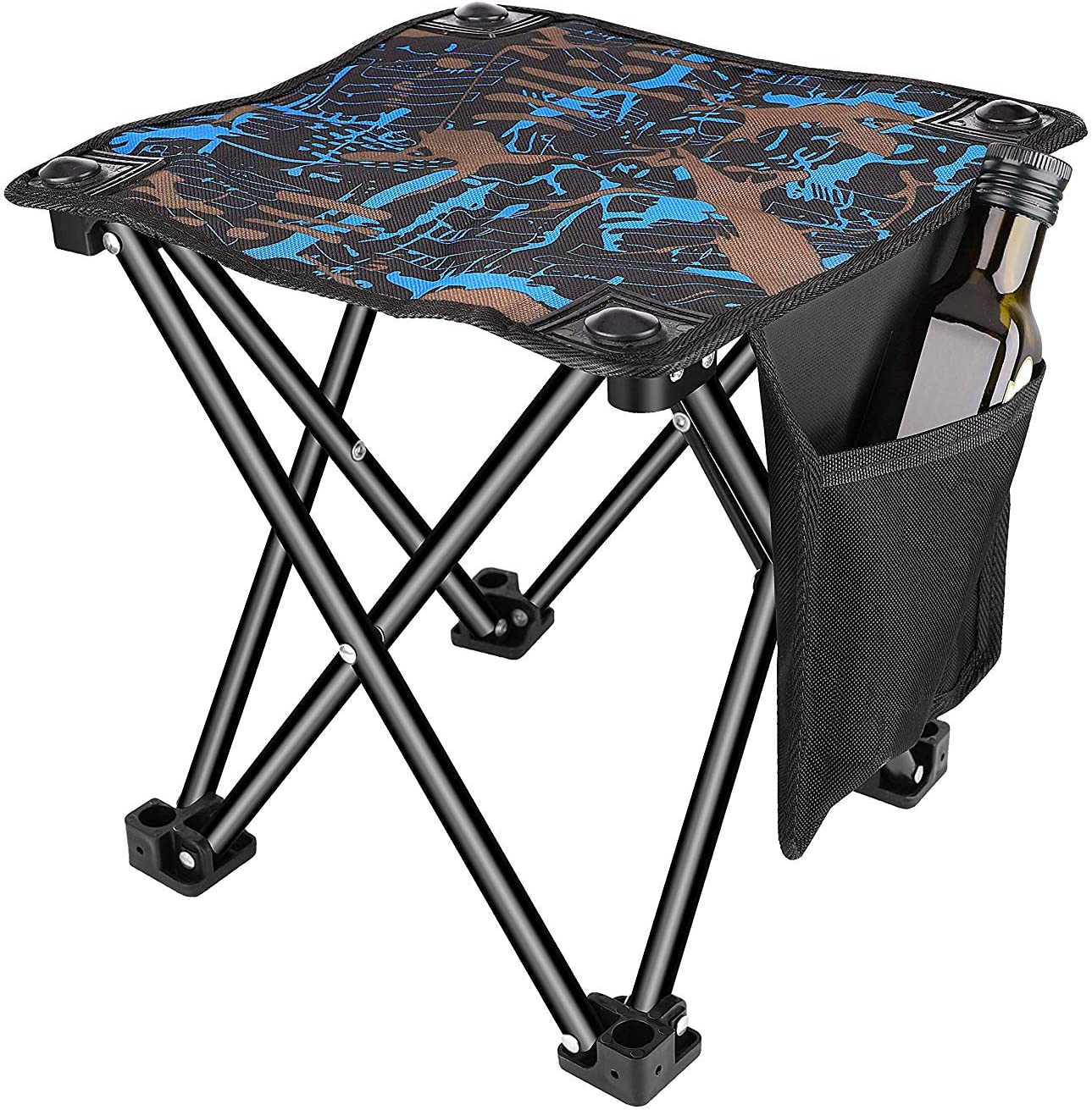 600D Oxford Cloth Portable Foldable Stool Chair Seat Outdoor Camping Fishing