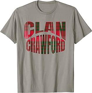 Crawford Clan Kilt Tartan T-Shirt Namesake Scotland gift Tee