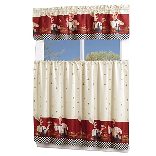 Fat Chef Kitchen Curtains Amazon Com