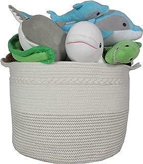 "Rope Basket|Woven Basket|Storage Basket|Decorative Hampers for Laundry| Large Cotton Rope Storage Baskets Great as Laundry Basket, Laundry Hamper, Toy Storage, Toy Bin,Blanket Basket,XXL20""X13.5"""