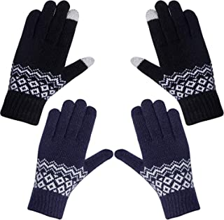 YSense 2 Pairs Womens Gloves, Winter Warm Touch Screen Texting Gloves