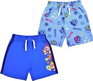 Nickelodeon Paw Patrol 2 Pack Shorts Set for Boys, Superhero Pups Printed Shorts Set, Size 4T Blue