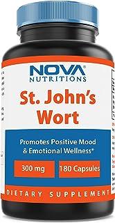 Nova Nutritions St Johns Wort 300 mg 180 Capsules - Also Called Saint Johns Wort