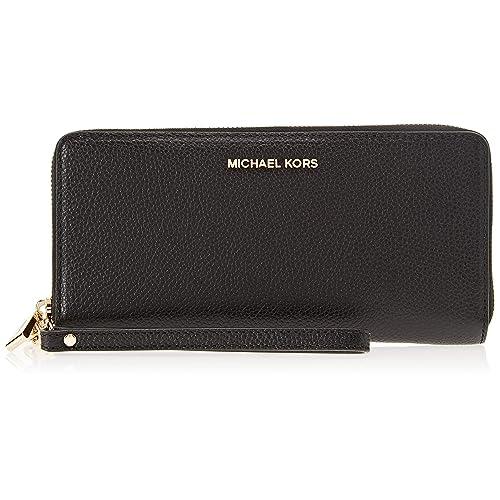 6dc5f6be7014 Michael Kors Women's Mercer Leather Continental Wristlet Wallet