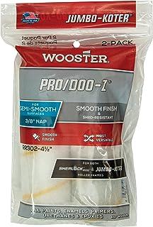 Wooster Brush RR302-4-1/2 Jumbo-Koter Pro/Doo-Z Roller 3/8-Inch Nap, 2-Pack, 4-1/2-Inch