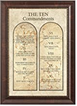 DECORARTS - The Ten Commandments. Giclee Print Wall Art for Home Decor and Wall Decor. Framed Size: 16x22