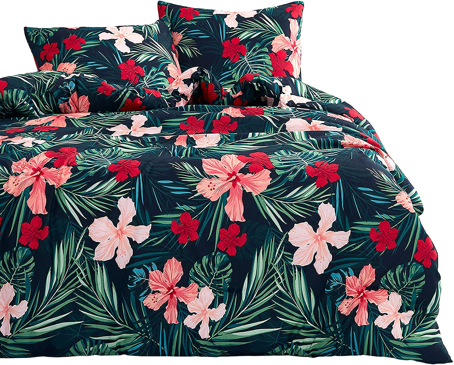 Wake In Cloud - Floral Free shipping anywhere in the nation Comforter Leav Set Tree Special Campaign Flowers Tropical