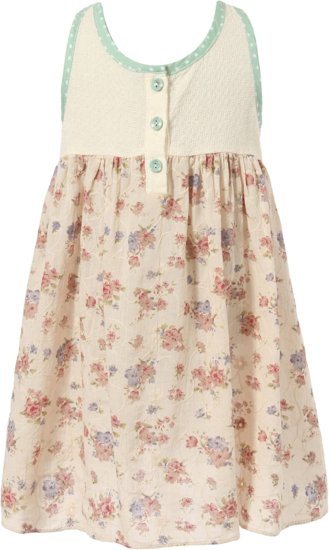 Richie House Girls' Sweet Summer Floral Dress Size 1-6 RH1788