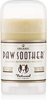 Natural Dog Company - Paw Soother   Heals Dry, Cracked, Irritated Dog Paw Pads   Organic, All-Natural Ingredients, Easy to Apply