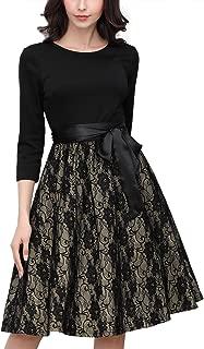 Women's 1950'S Style 2/3 Sleeve Evening Party Swing Dress
