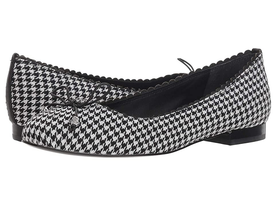 LAUREN Ralph Lauren Glennie II (Black/White/Black/Houndstooth/Super Soft Leather) Women