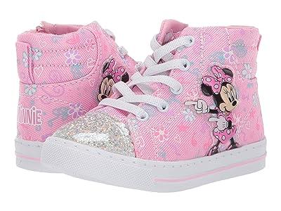 Josmo Kids Minnie High Top Sneaker (Toddler/Little Kid) (Pink) Girl
