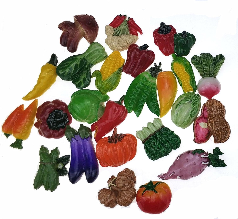 Miswee random 12Pcs creative 3D fridge Some reservation ma fruit vegetables New popularity resin