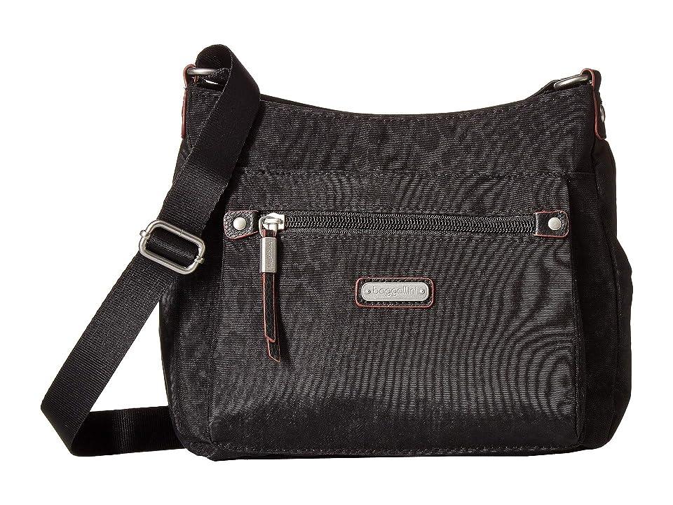 Baggallini New Classic Uptown Bagg with RFID Phone Wristlet (Black Cheetah) Bags