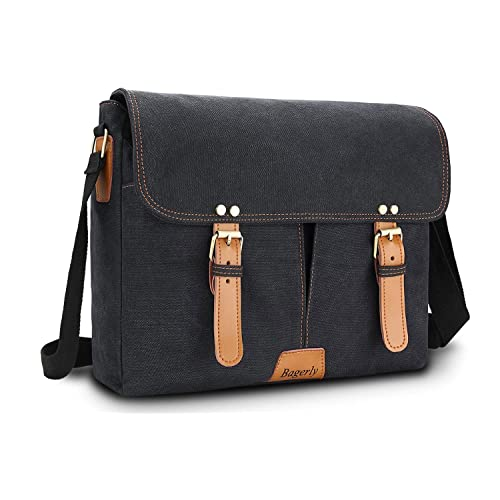 c0d55deb698 Bagerly Canvas Messenger Bag Hob Bag Shoulder Bag Laptop Bag Briefcase Fits  14 inch Laptop Satchel